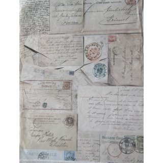 Seidenpapier Postkartenmotiv
