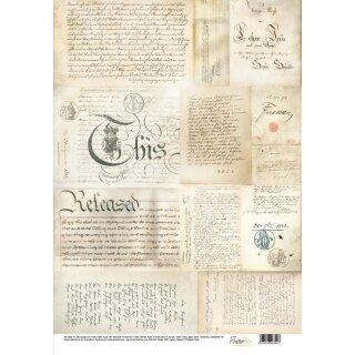 Powertex Seidenpapier Handschriften