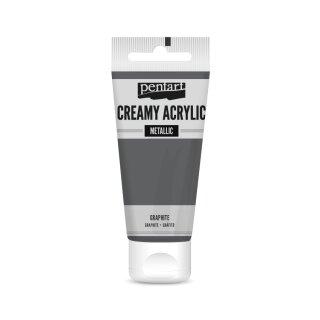 Pentart Creamy Metallic 60 ml Graphit