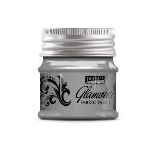Stoffmalfarbe Glamour silber 50 ml Pentart