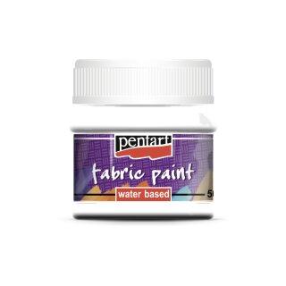 Stoffmalfarbe weiss 50 ml Pentart