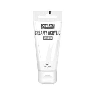 Pentart Creamy Acrylic Semi Gloss Weiß 60 ml