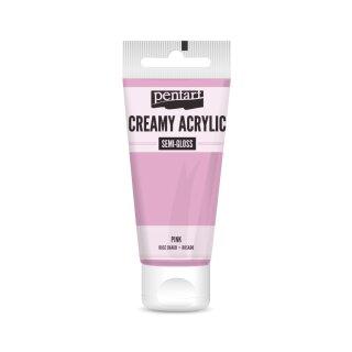 Pentart Creamy Acrylic Semi Gloss Pink 60 ml