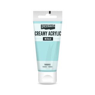 Pentart Creamy Metallic 60 ml Türkis