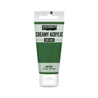 Pentart Creamy Acrylic Semi Gloss Dunkelgrün  60 ml