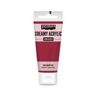 Pentart Creamy Acrylic Semi Gloss Sauerkirschrot 60 ml