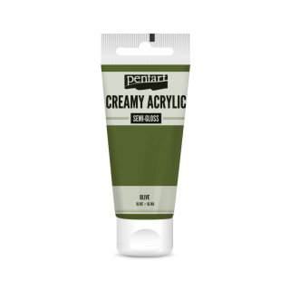 Pentart Creamy Acrylic Semi Gloss Olive 60 ml