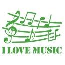 Schablone S29 Noten, Musik