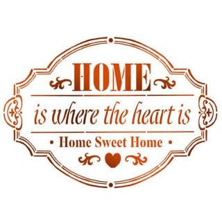 """Schablone Stamperia ca A5 """"Home"""""""