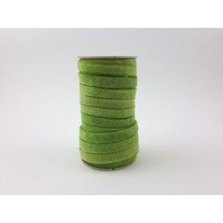 Filzband 3 mm x 1 cm Hellgrün, Rolle mit 16 m