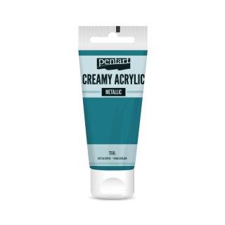 Pentart Creamy Metallic 60 ml Teal (Blaugrün)