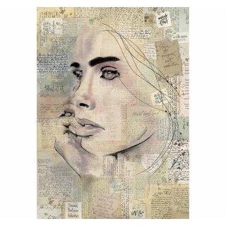 "Rice Papier Stamperia ""Wandering Mind"" A4 21 x 29,7 cm"