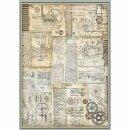 """Stamperia Rice Papier  """"Voyages Fantastiques..."""