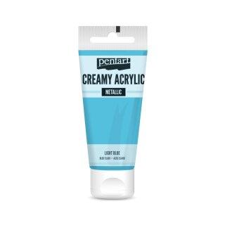 Pentart Creamy Metallic 60 ml Hellblau