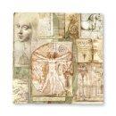 Handgeschöpftes Papier 30x30 Leonardo Da Vinci