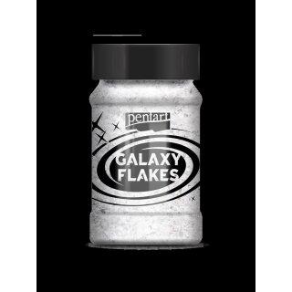 Galaxy Flakes Mercury weiß v. 15 g Pentart