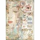Stamperia Rice Papier  A4 21 x 29,7 cm Mädchengesicht