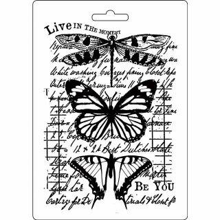 Strukturmatten Stemperia Molds DIN A5 Be You Schmetterlinge