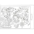 Strukturmatten Stemperia Molds DIN A5 Map of the world
