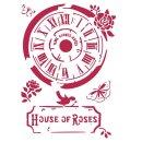"""Schablone Stamperia 21 x 29,7 ca A4 """"House of..."""