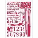 """Schablone Stamperia 21 x 29,7 ca A4 """"Schriften und..."""
