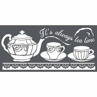 Schablone Stamperia 12 x 25 Tea Time