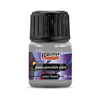 Glasmalfarbe 30 ml Pentart silber