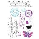 Schablone Stamperia 21 x 29,7 Postkartenmotiv