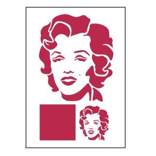 Schablone Stamperia 21 x 29,7 Warhol Marylin