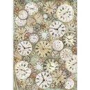 Stamperia Rice Papier A3 29,7 x 42 cm Vagabond Clock and...