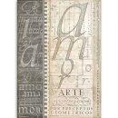 Stamperia Rice Papier  A4 21 x 29,7 cm Alphabet