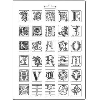 Strukturmatten Stemperia Molds DIN A4 Alphabet