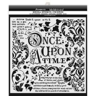 Stamperia Schablone 30x30 cm Once upon a time