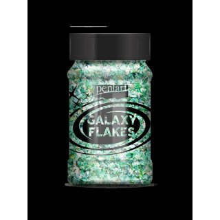 Galaxy Flakes Mercury Earth green v. 15 g Pentart