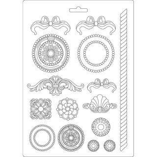 Stamperia Soft Mould A4 Ornamente Rosetten