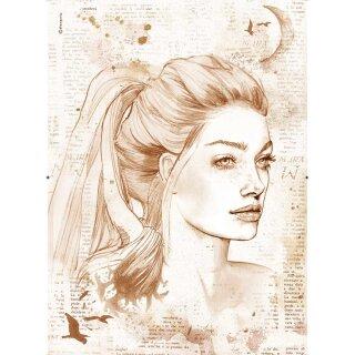 "Stamperia Rice Papier A3 29,7 x 42 cm ""Lady"""