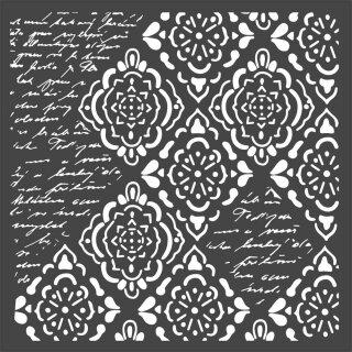 Schablone Stamperia 18 x 18 Wallpaper Rhombus