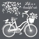 Schablone Stamperia 18 x 18 Bicycle
