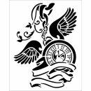 Schablone Stamperia 20 x 25 Pendulum Clock with Wings