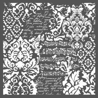 Schablone Stamperia 30 x 30 cm Wallpaper Fantasy