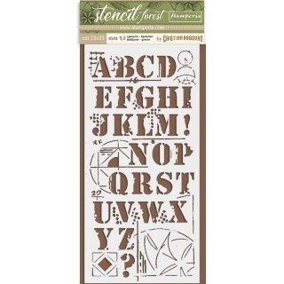Schablone Stamperia 12 x 25 Alphabet