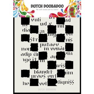 Schablone Dutch Doobadoo A5  Script Blocks